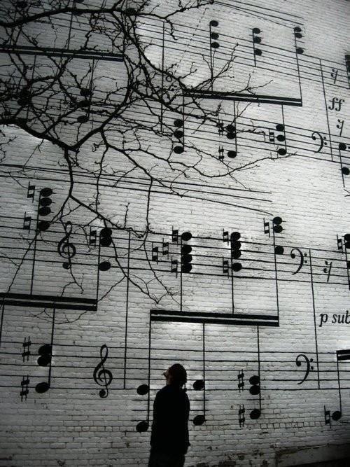 Musical street art...