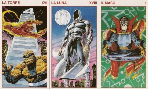 Marvel Tarot Deck, published by Lo Scarabeo