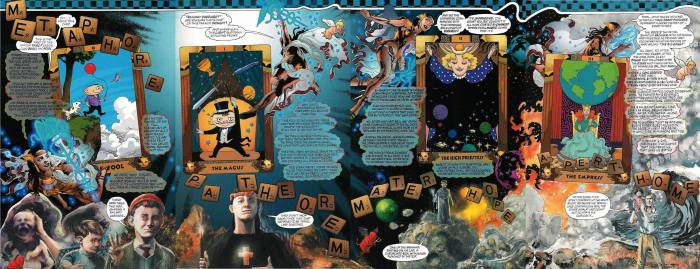 First four Major Arcana cards as depicted in Promethea #12